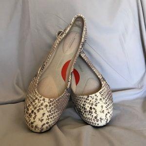 Snakeskin Ballet Flats Size 11